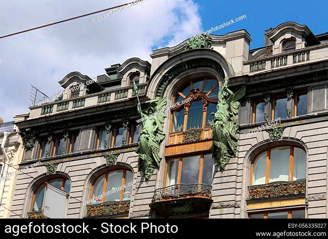 july 17. 2019. Saint-Petersburg, Russia Beautiful old city architecture History