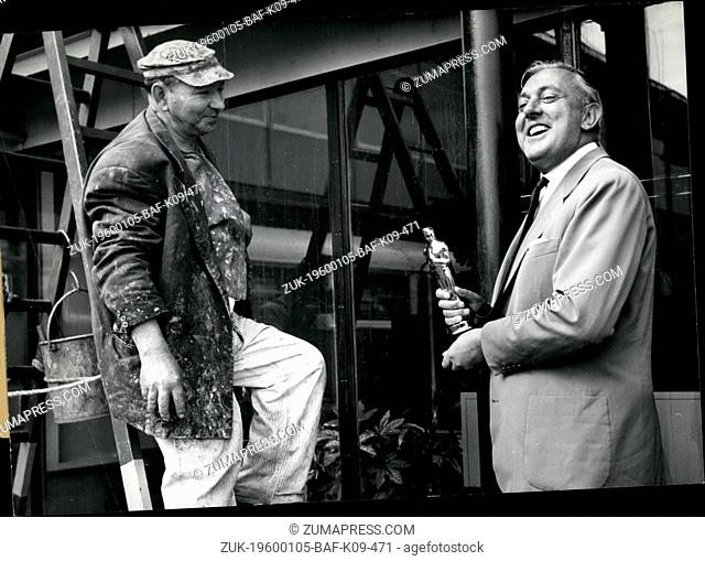 1968 - French Actor Jacques Tati Back to Paris. French actor Jacques Tati who received the Oscar of the best film 'Mt Uncle' in Hollywood