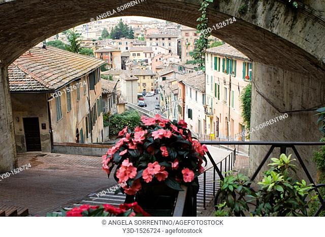Perugia, Acquedotto street, Umbria, Italy