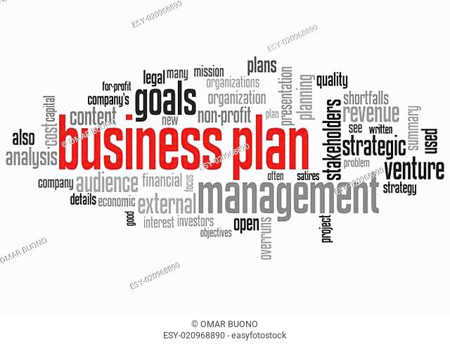 Business Plan Concept Design Word Cloud on White Background