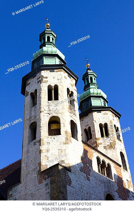St Andrews church in Grodzka Street, Krakow, Poland