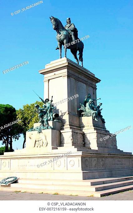 Gianicolo in Roma, Italia