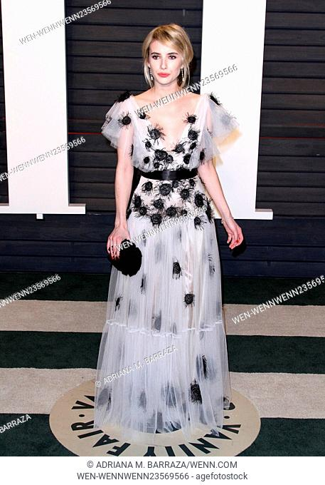 Vanity Fair Oscar Party at Wallis Annenberg Center for Performing Arts - Arrivals Featuring: Emma Roberts Where: Los Angeles, California