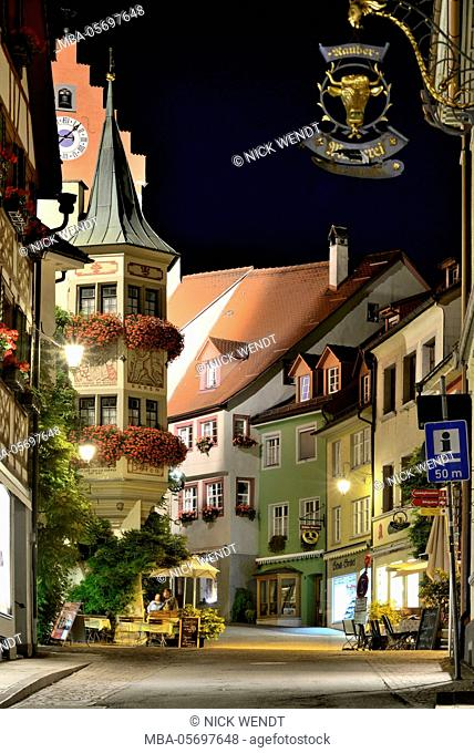 Meersburg in Lake of Constance, evening mood