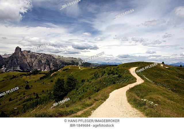 Plateau Piz la Villa in Alta Badia, Dolomites, South Tyrol, Italy, Europe