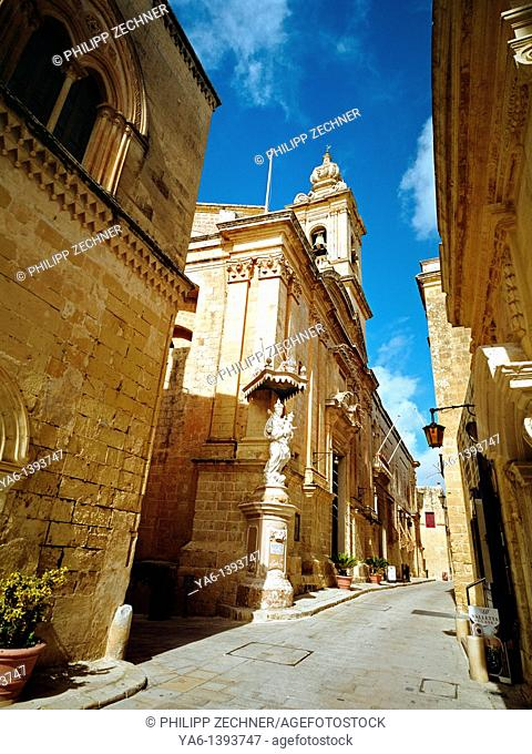 In the streets of Mdina, Malta