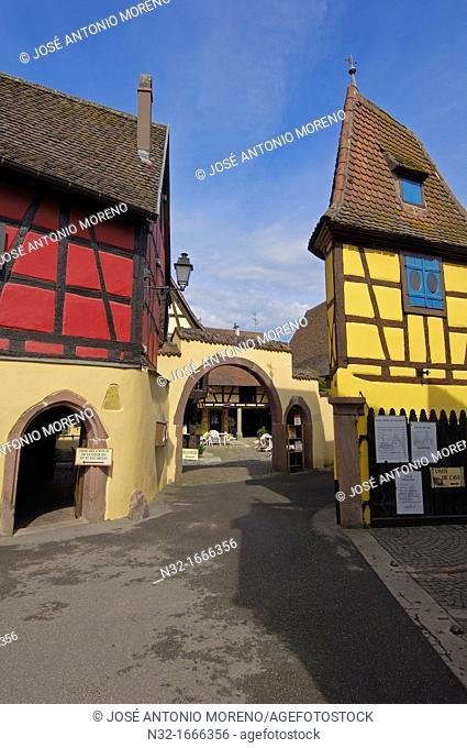 Eguisheim, Emile Beyer' s wine cellar, Alsace Wine Route, Cellar, Haut-Rhin, Alsace, France, Europe