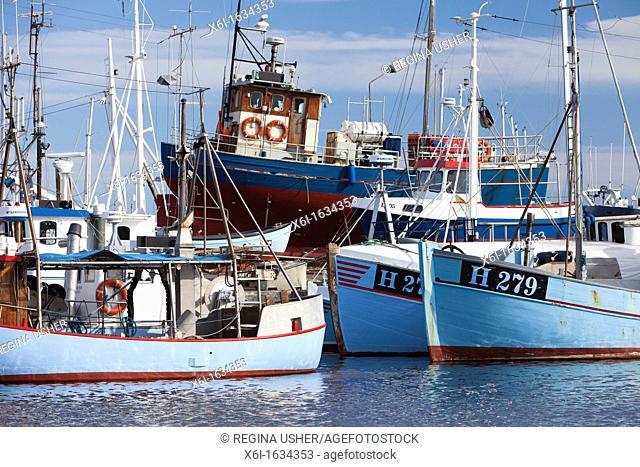 Fishing Boats, in Harbour, Gilleleje, Sjaelland, Denmark