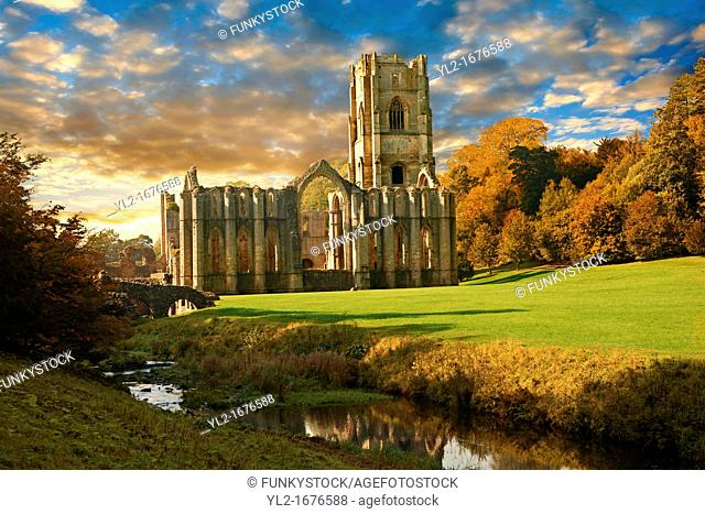 Fountains Abbey & Studley Royal water gardens, founded in 1132, is one of the largest and best preserved ruined Cistercian monasteries in England  The ruined...
