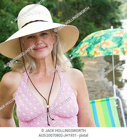 Portrait of a mature woman smiling