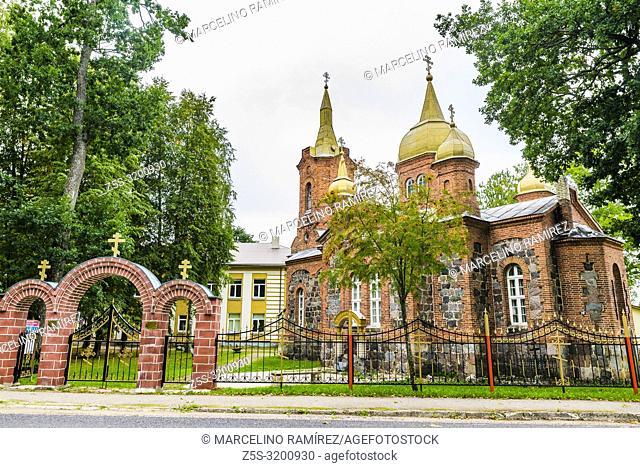 The Holy Trinity Unitarian Church in Mustvee. Mustvee, Jogeva County, Estonia, Baltic states, Europe