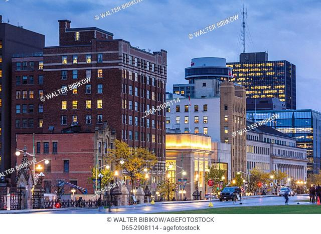Canada, Ontario, Ottowa, capital of Canada, city view, evening