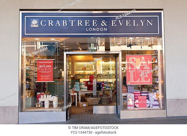 The Crabtree and Evelyn shop store in Norwich , Norfolk , England , Britain , Uk