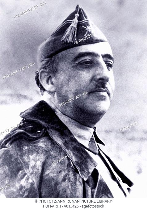 Francisco Franco 1892-1975. Spanish general and the dictator of Spain from 1939 until his death in 1975