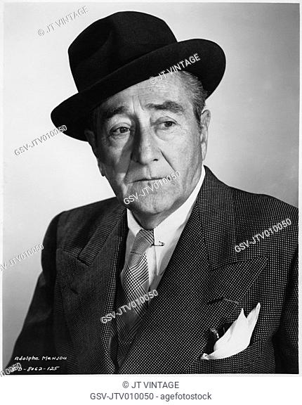 Adolphe Menjou, Publicity Portrait for the Film, The Sniper, Columbia Pictures, 1952