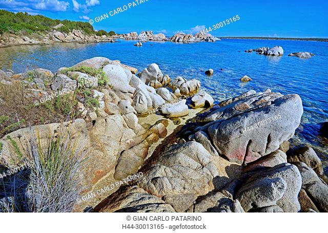 Sardinia, Italy rocks and sea at Beach