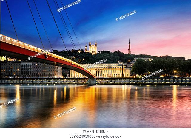 Saone river Lyon, France