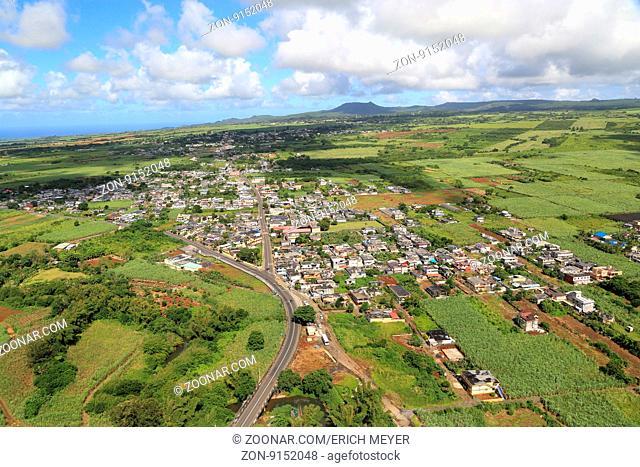 Mauritius, La Flora, von Zuckerrohrfeldern umgeben