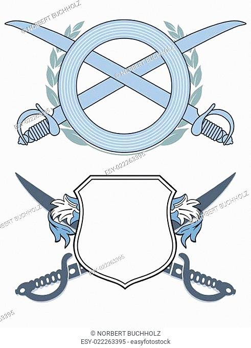 Emblem mit Säbel