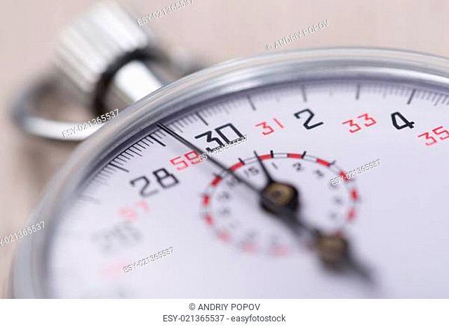 Closeup Of Stopwatch