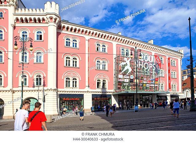 Czech Republic, Prague . Palladium shopping mall