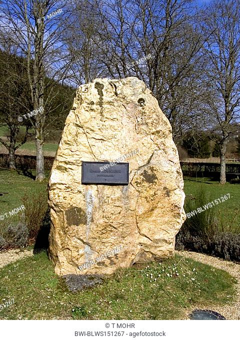 Europe Monument in Ouren, Konrad Adenauer, Belgium, ouren