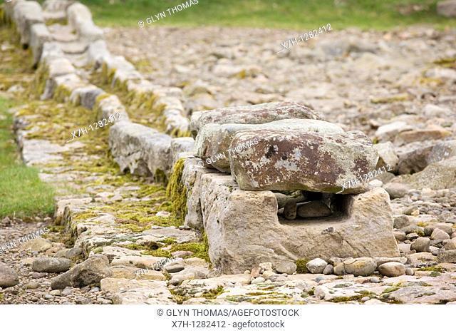 Aqueduct at Corbridge Roman Town, Northumberland, England