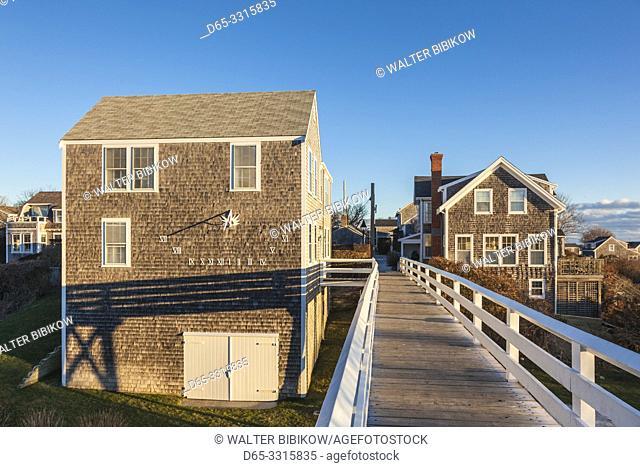 USA, New England, Massachusetts, Nantucket Island, Siasconset, village cottages