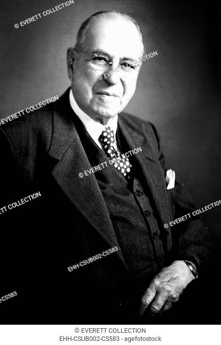 Dr. Charles Frederick Menninger. Founder of the Menninger Clinic in Topeka Kansas. Ca. 1935. He was the father of psychiatrists Dr. William C