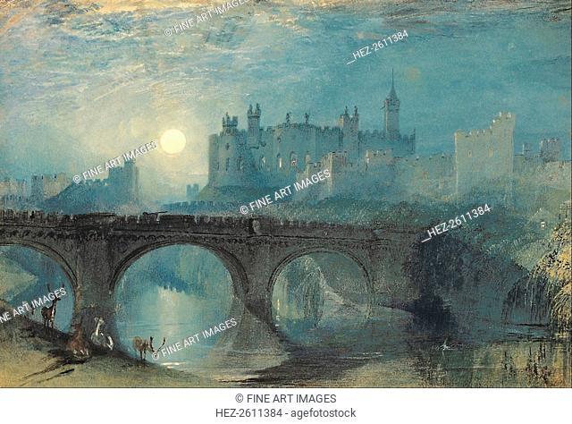 Alnwick Castle, c. 1829. Artist: Turner, Joseph Mallord William (1775-1851)