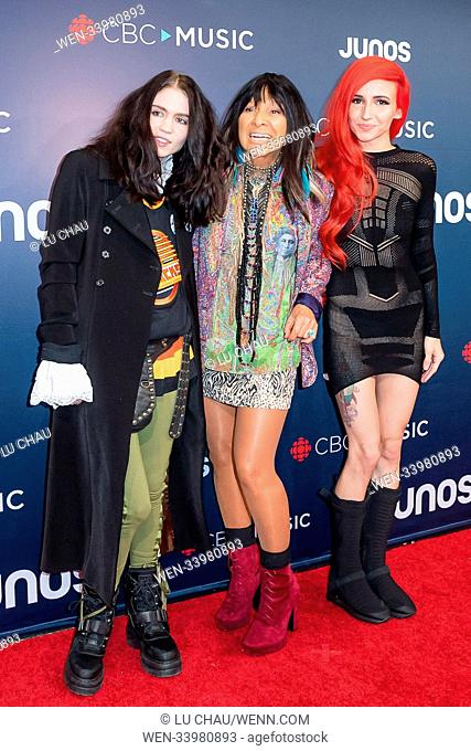 2018 JUNO Awards, held at the Rogers Arena in Vancouver, Canada. Featuring: Grimes, Buffy Sainte-Marie, Lights Where: Vancouver, British Columbia