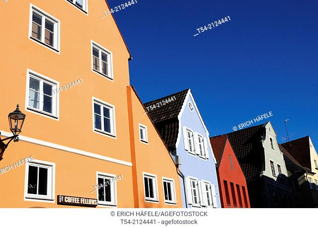 Colorful Old Houses at the theater square in Memmingen