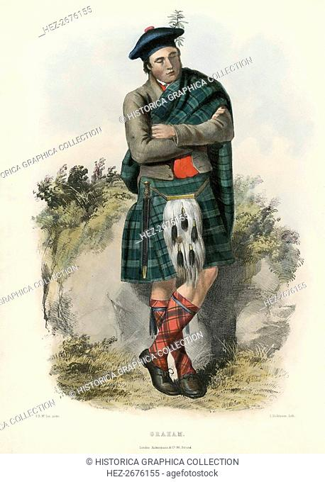 Graham, from The Clans of the Scottish Highlands, pub. 1845 (colour lithograph)