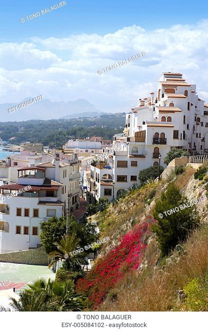 moraira village mediterranean country in Spain