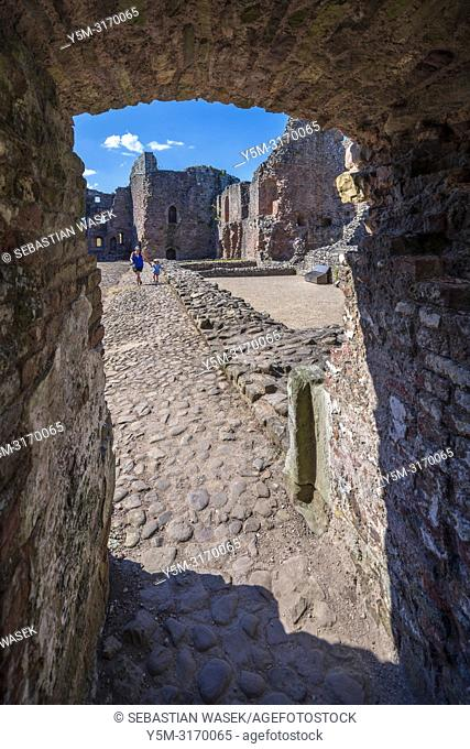 Raglan Castle, Monmouthshire, Wales, United Kingdom, Europe