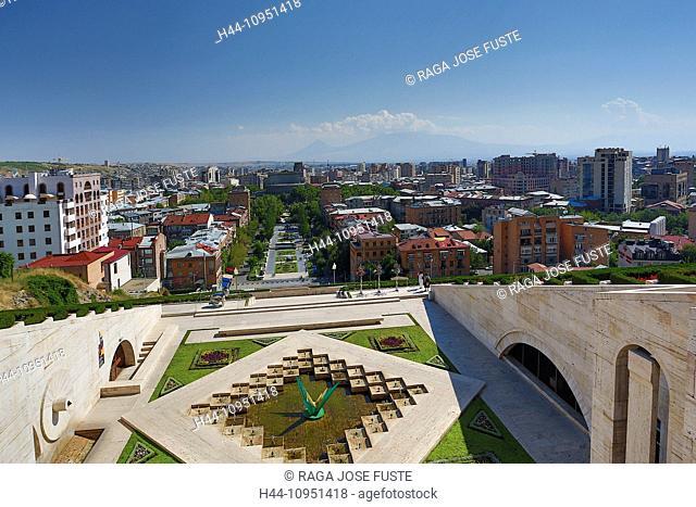 Armenia, South Caucasus, Caucasus, Eurasia, Cascade, Complex, Yerevan, Ararat, mountain, architecture, avenue, city, downtown, house, mountain, opera, skyline