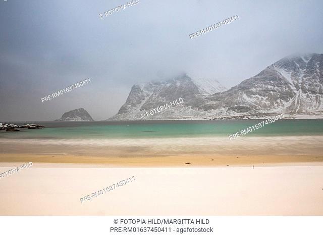 Hauklandstranda (Haukland beach), Leknes, Vestvågøy, Vestvågøya, Lofoten, Nordland, Norway, March 2017 / Hauklandstranda (Haukland Strand), Leknes, Vestvågøy
