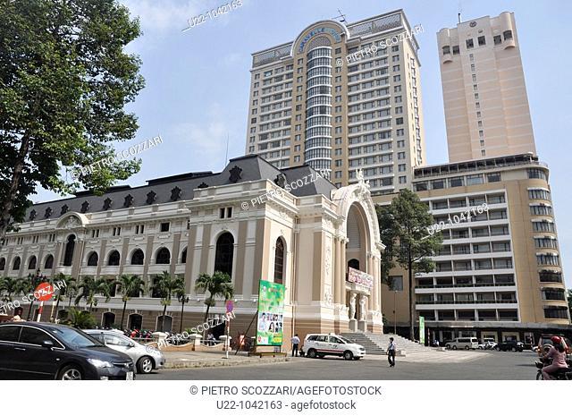 Ho Chi Min City (Vietnam): the Opera House (Municipal Theatre)