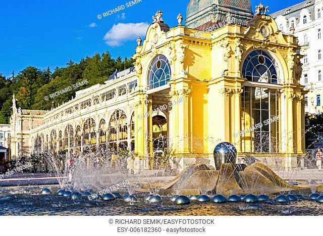 Colonnade with Singing fountain, Marianske Lazne (Marienbad), Czech Republic