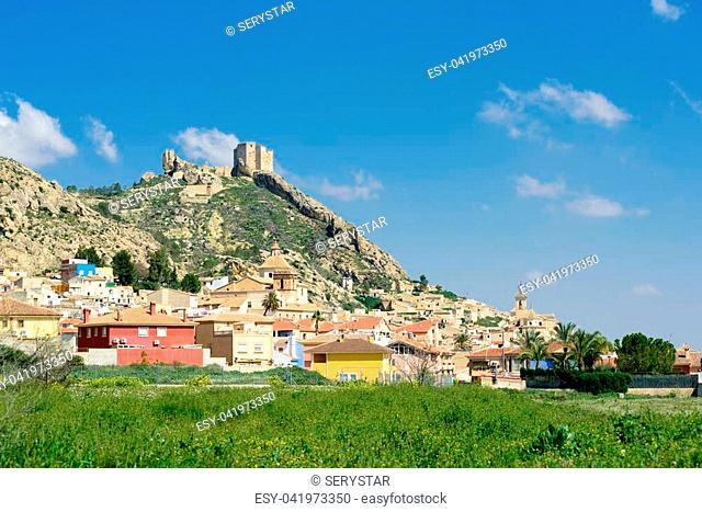 General view of the town of Mula, Murcia, Spain. It is best known for the tamboradas (drumming processions) held during the Holy Week