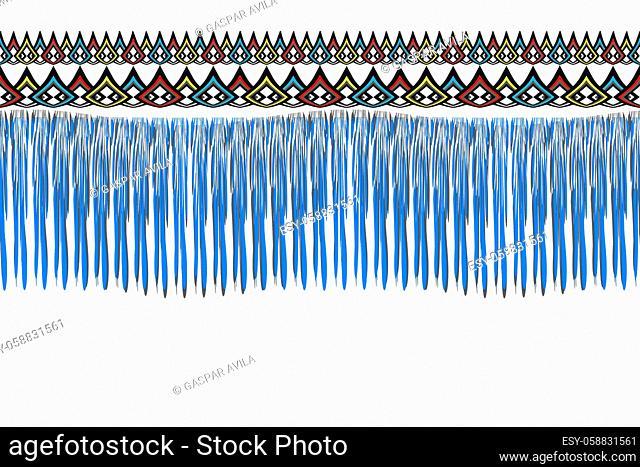 Blue threads pattern. Geometric graphic design