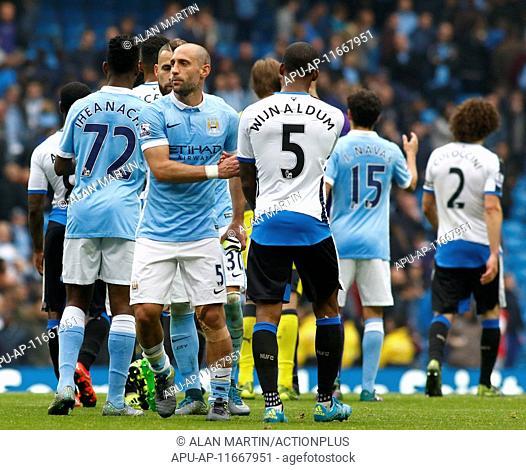 2015 Barclays Premier League Manchester City v Newcastle Oct 3rd. 03.10.2015. Manchester, England. Barclays Premier League
