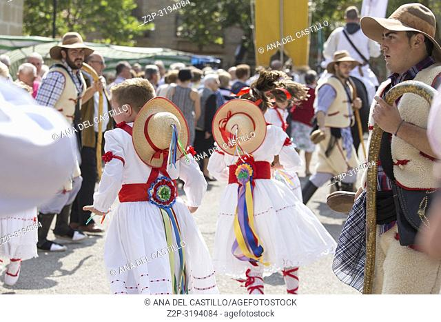 Dancers children During the festivities in Alcala de la Selva village there are multiple acts, such as street dances in pilgrimage and old rituals to the Virgin...