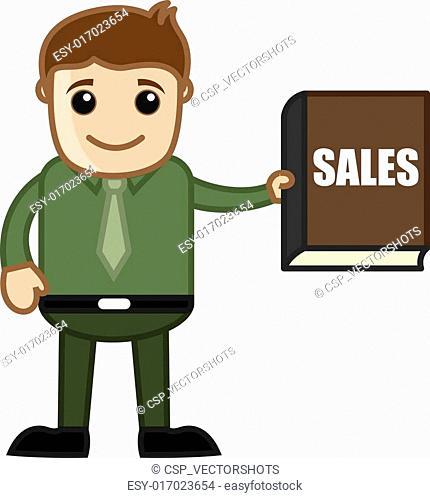 Sales Book - Business Cartoon