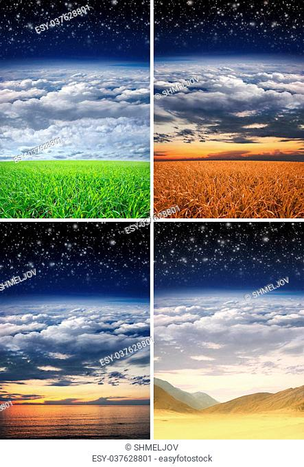 Collection of different landscape collages