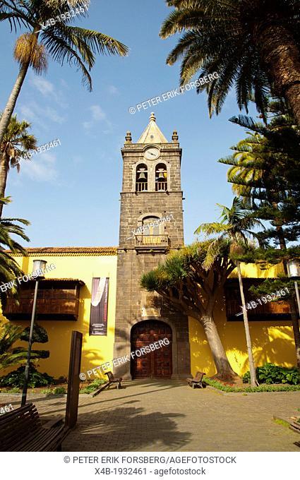 Iglesia de San Agustin church Calle San Agustin street San Cristobal de La Laguna city Tenerife the Canary Islands Spain Europe