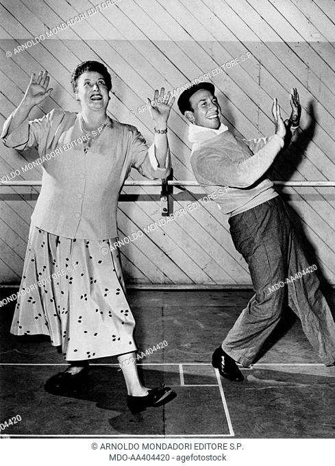Helen Traubel and José Ferrer in Deep in My Heart. American opera singer Helen Traubel dancing with Puerto Rican-born American actor and director José Ferrer in...