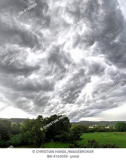 Storm clouds in St.Veit, Berndorf, Lower Austria, Austria