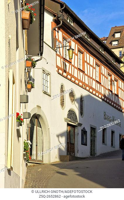 The historic old town of Meersburg at Lake Constance, Germany
