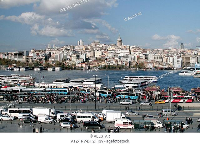 GALATA TOWER & GOLDEN HORN; BEYOGLU, ISTANBUL, TURKEY; 11/11/2012